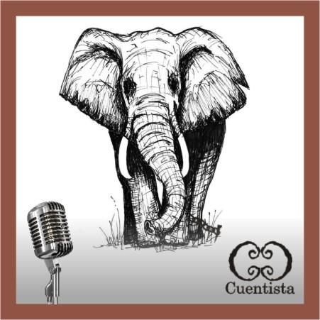 Elefante en cadenas que ilustra el cuento